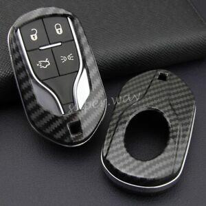 For Maserati Ghibli/Levante/Quattroporte Carbon Fiber Smart Key Case Hard Cover