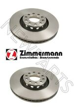 VW Passat 02-05 W8 Pair Set of 2 Front Vented 321mm OD Brake Rotors Zimmermann