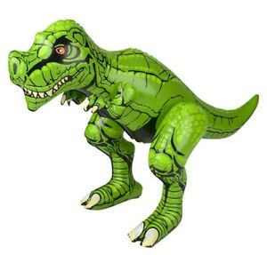 24 Inch Inflatable Green T-Rex Tyrannosaurus Rex Party Decoration Photo Op