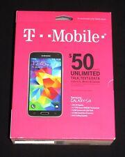 Brand New Sealed T-Mobile Samsung Galaxy S5 Prepaid 16GB 4G LTE Smartphone-Black
