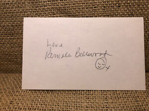 Pamela Bellwood signed autograph 3x5 index card Actress Dynasty