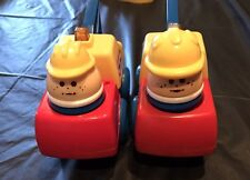 Little Tikes 1991 Toddle Totmobile Tow Truck Vehicle Car. Set Of 2 With Tots