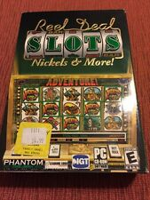 Reel Deal Slots Nickels & More! PC CD coin slot machine Vegas game collection!