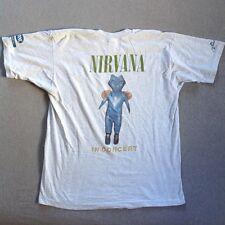 NIRVANA Shirt t vtg tshirt CREW CONCERT IN UTERO TOUR original 90s KURT COBAIN