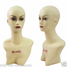 FEMALE  DISPLAY MANNEQUIN FEMALE DUMMY HEAD FOR HATS, WIGS, JEWERLLERY, SCARFS