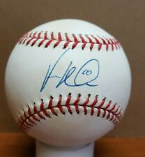 VERNON WELLS AUTOGRAPHED SIGNED MAJOR LEAGUE BASEBALL BLUE JAYS YANKEES