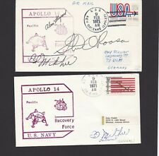 More details for apollo 14 full crew shepard roosa & mitchell original signed recovery cover set