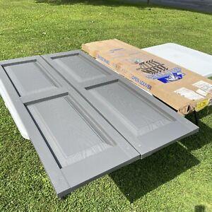 "Mid America 15"" x 52"" (storm grey) colonial raised panel vinyl shutter"