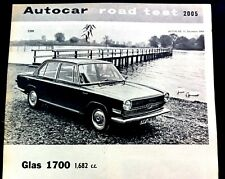 GLAS 1700 -1964 -Road Test from The AUTOCAR