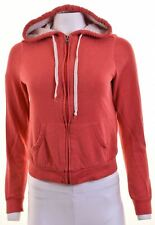 HOLLISTER Womens Hoodie Sweater Size 10 Small Red Cotton  IK07