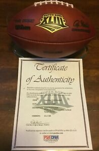 Steelers v Cardinals Super Bowl XLIII Game Used Ball Football COA