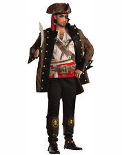 Pirate Captain Jacket With Shirt Mens Adult Costume Accessory-Std