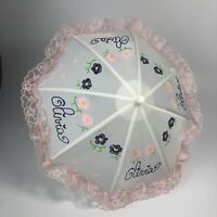 """Vintage 10"""" Olivia Doll Lace Umbrella By SHAW"""
