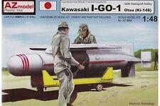 AZ Model AZ4862 1/48 Kawasaki I-GO-1 Otsu w/ transport trolley