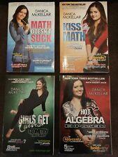 (4) Danica McKellar Books: Math Doesn't Suck,Kiss My Math,Girls Get Curves,Hot X