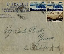 Eritrea - 1938 Commercial Airmail Cover. Addis Ababa to Genoa