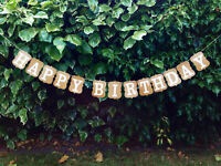 Custom Happy Birthday Bunting Banners Card Photo Prop - Party Venue Decoration