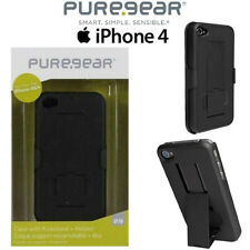 Puregear Apple iPhone 4 4S Belt Clip Holster Shell Case Combo W/ KickStand Black