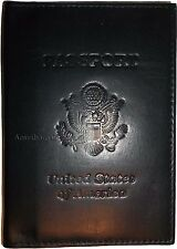 New USA Leather Passport cover Credit ATM Card holder passport / card case bnwt