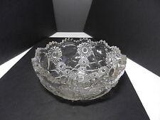"Ohio Flint Glass Krys-Tol Gloria Large Berry Bowl Clear Crystal 8"" D ca1905"