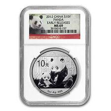 2012 China 1 oz Silver Panda MS-69 NGC (Early Releases) - SKU #68179