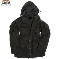 Black SAS Smock Tactical Army Jacket Windproof Military Assault Jacket (S-2XL)