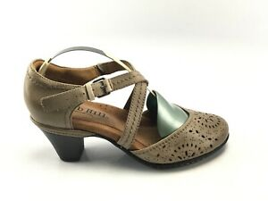 Cobb Hill CAI25KH  Taupe Criss Cross Mary Jane Heel Casual SHoe Sz 7 M