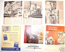 6 PC ROCKWELL CANADA & Beaver Wood Machinery FLYER LOT #3 workshop design #RR850
