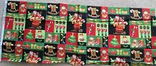 "1 Colorful Christmas ""Jolly Ole' St Nick"" Quilting Crafting Sewing Fabric"