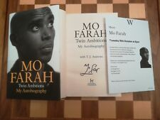 Twin Ambitions My Autobiography SIGNED Mo Farah 1st edition 1st impression HB