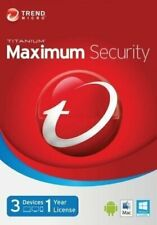 Trend Micro Maximum Security 2020 3 Devices One Year PC | MAC | Android