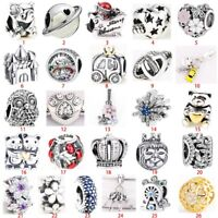 Fashion S925 silver charm bead pendant For European silver bracelets bangle