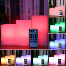 3 Packed LED Flameless Pillar Candle Light 12 Color 18 Key Remote Control Lamp T