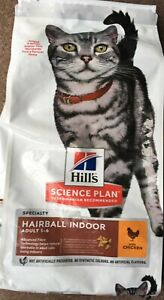 Hill's Science Plan Feline Hairball Indoor Adult Cat Food With Chicken 7kg.