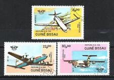 Avions Guinée Bissau (31) série complète de 3 timbres oblitérés