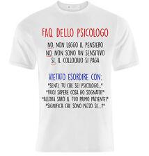 T-shirt uomo Faq dello psicologo, divertente idea regalo laurea psicologia