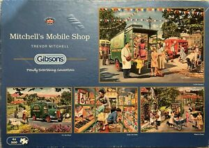 Gibsons 4 x 500-Piece Jigsaw Puzzles 'MITCHELL'S MOBILE SHOP' See Description