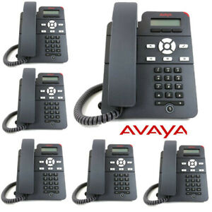 6 Pack Avaya J129 IP Phone Entry Level Single Line 10/100 Ethernet 700513639