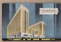 The Curtis Hotel Minneapolis,Minnesota Linen Postcard