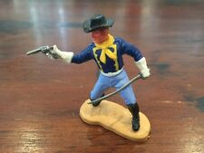 Timpo US 7th Cavalry Officer - White Gloves - Wild West - 1970's