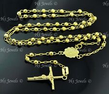 5.80 grams 14k solid yellow gold Rosary necklace 17  inches #7687