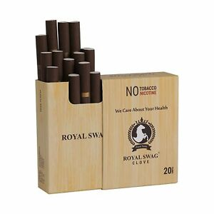 Royal Swag Ayurvedic Cigarette 20Unit Pack Clove Flavour Nicotine Free INDIA