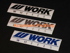 "2x 12"" 30.5cm Work decal sticker wheels equip emotion CR-kai JDM vinyl bumper"
