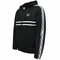 Sergio Tacchini Mens Dangel Track Top Windbreaker Hooded Jacket Black 38700 168