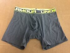 "UNDER ARMOUR UA 6"" MENS BOXERJOCK NIB CARBON HEATHER SMALL S SM 1230364 MSRP $20"