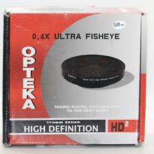 Opteka OPT-724PF 58mm 0.4X HD2 Large Element Fisheye Lens for Pro Video Cams OB