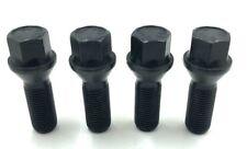 4 X ALLOY WHEEL BOLTS BLACK BMW 1 3 5 SERIES M12 X 1.5 26MM  NUTS LUG STUD  (21)