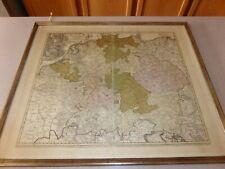 GERMANY JB HOMANN 1741 Roman German Empire Double Leaf Map Albert Jung Framed