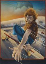 Jim Evans 1977 skateboard poster Wonder Wheels 24x36< 00004000 /a>