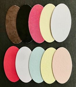 Oval Layering Panel card topper / embellishments 55mm x 30mm pk10